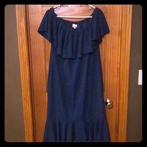 Lularoe Cici Dress- Slate Blue